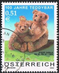 Austria SG2647 2002 Centenary of the Teddy Bear 51c good/fine used